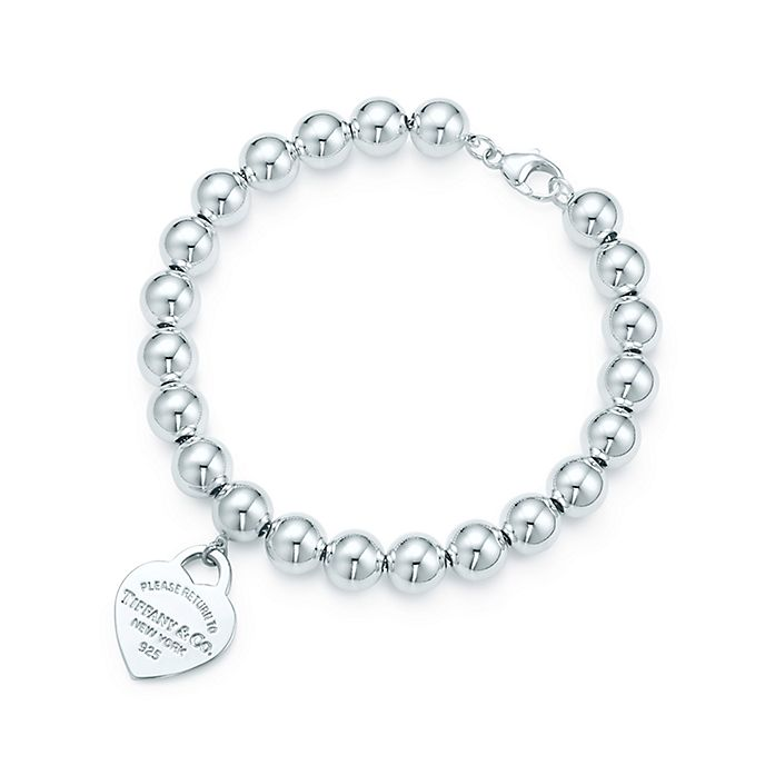 ec05316c2 Return to Tiffany™ small heart tag in sterling silver on a bead ...