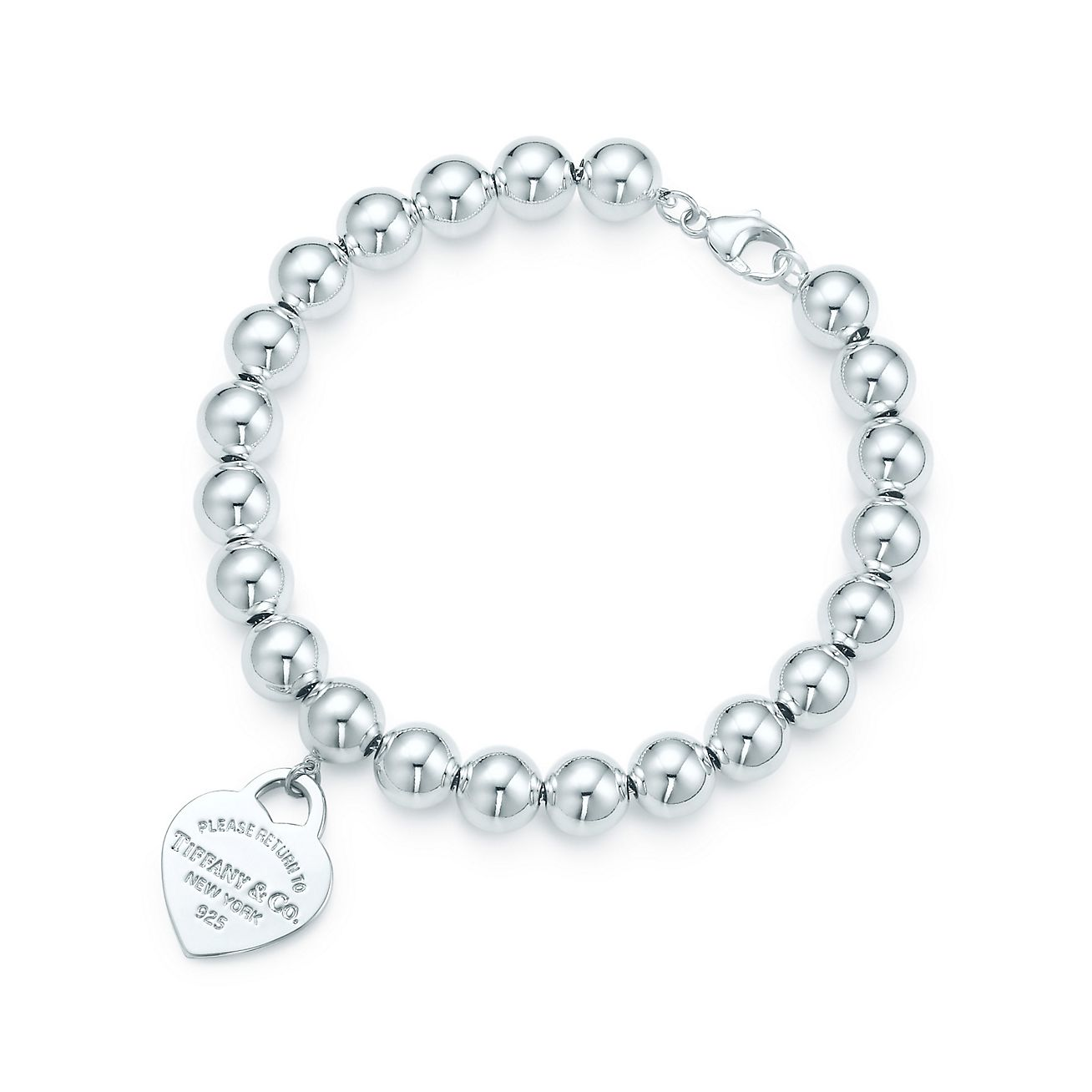 Return to Tiffany small heart tag in silver on a freshwater pearl bracelet Tiffany & Co.