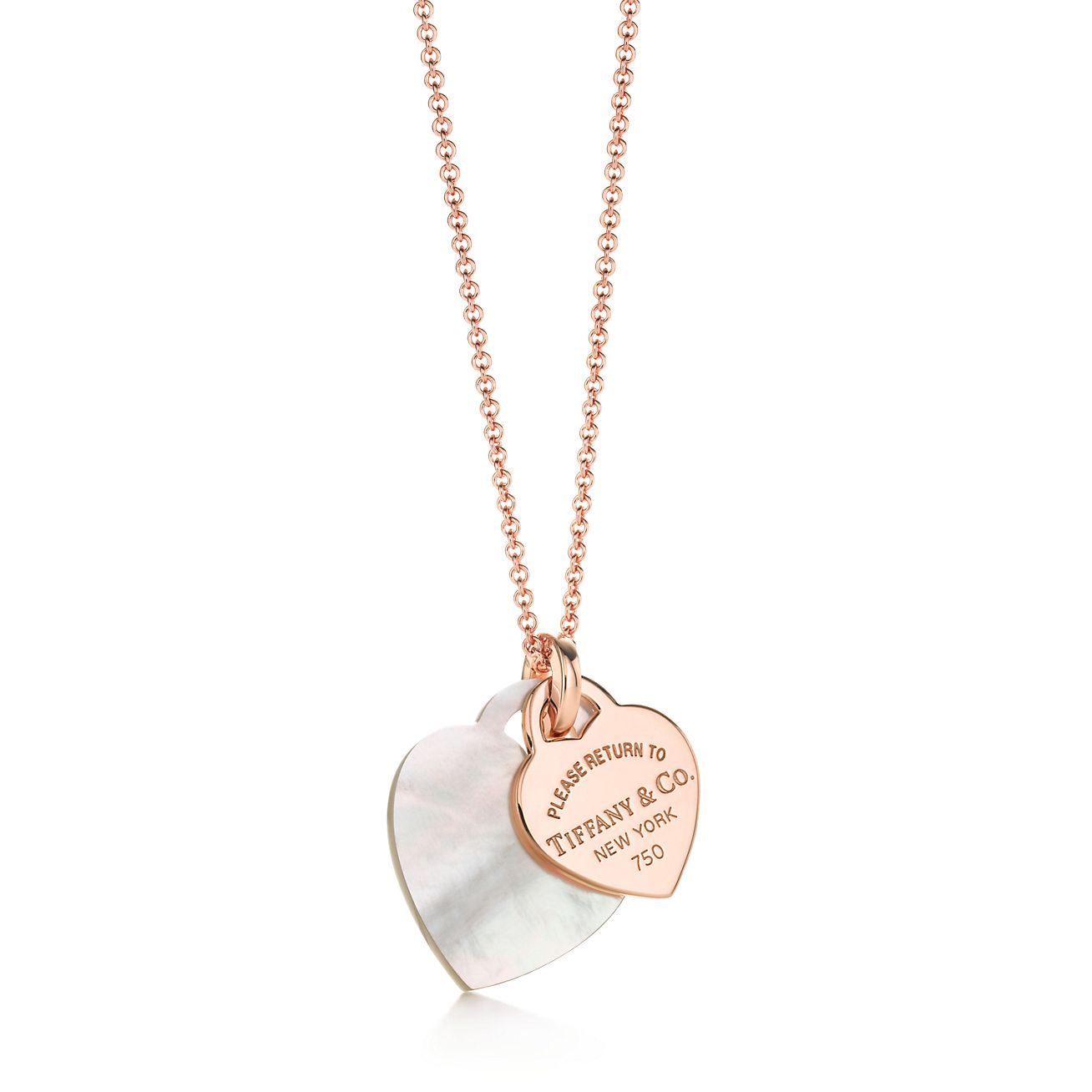 Return to Tiffany double heart pendant in mother-of-pearl and sterling silver Tiffany & Co.