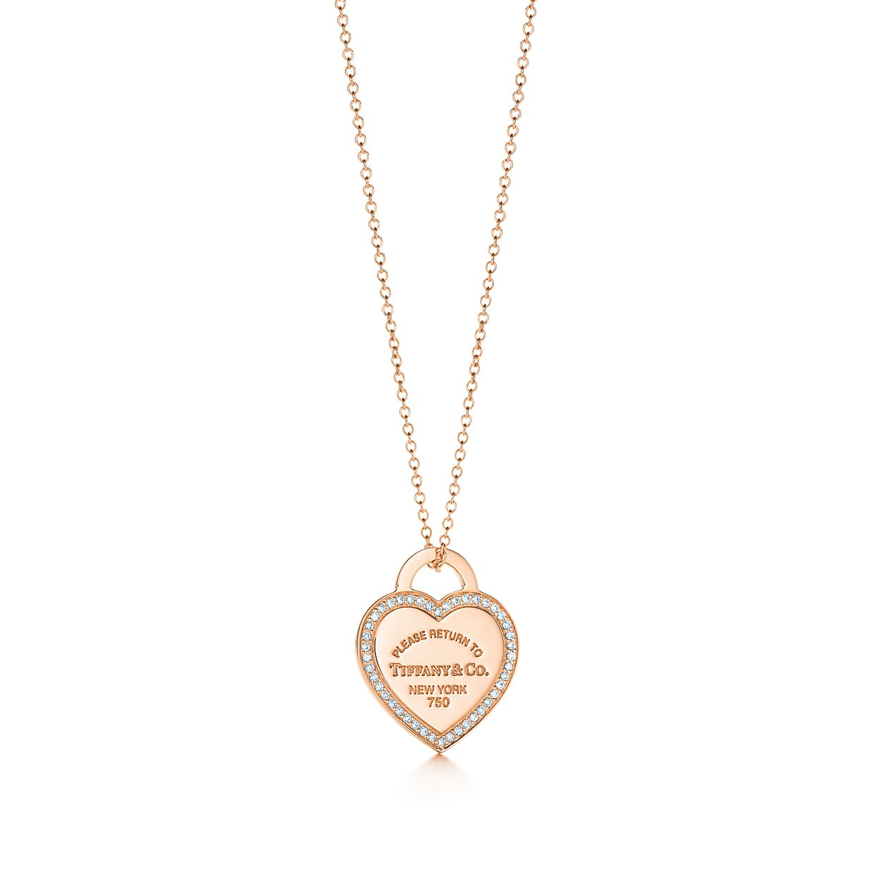 Return to tiffany small heart tag pendant in 18k rose gold with return to tiffanyheart tag pendant aloadofball Choice Image