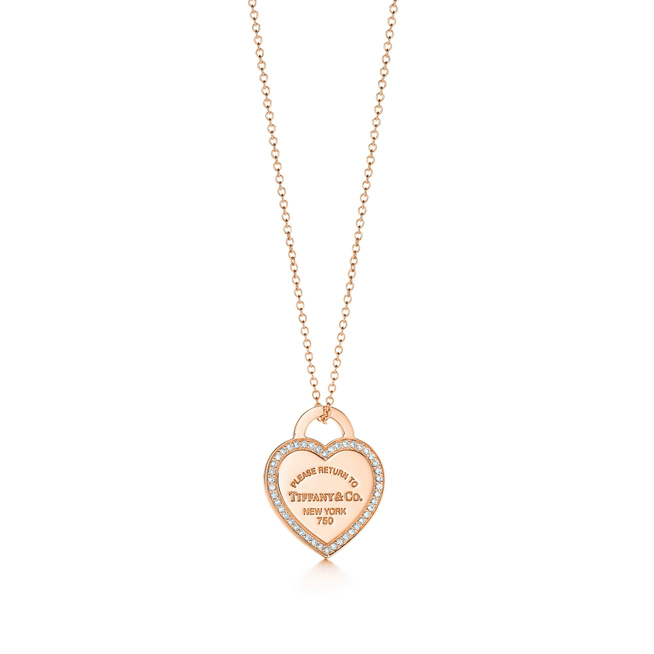 Return to tiffany small heart tag pendant in 18k rose gold with return to tiffanyheart tag pendant aloadofball Image collections