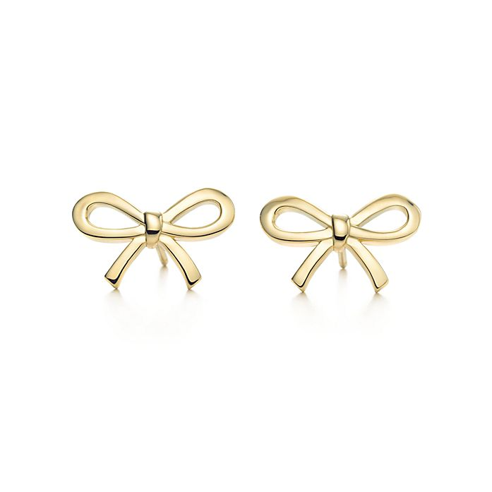 b62e8f089 Tiffany Bow earrings in 18k gold. | Tiffany & Co.