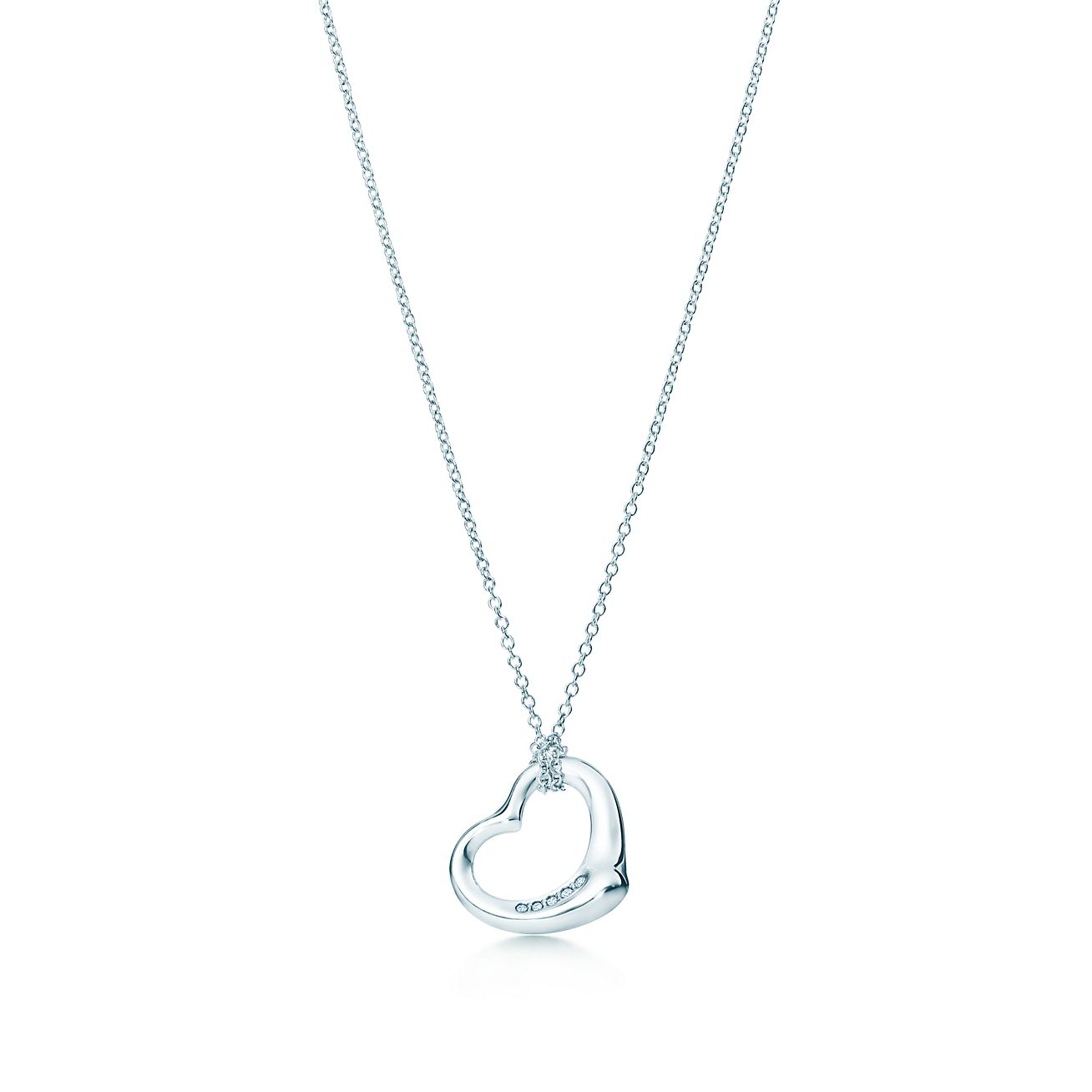 Elsa peretti open heart pendant in sterling silver with diamonds elsa perettiopen heart pendant aloadofball Gallery