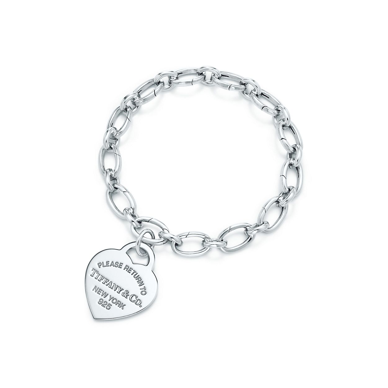 Return To Tiffany Heart Tag Charm And Bracelet