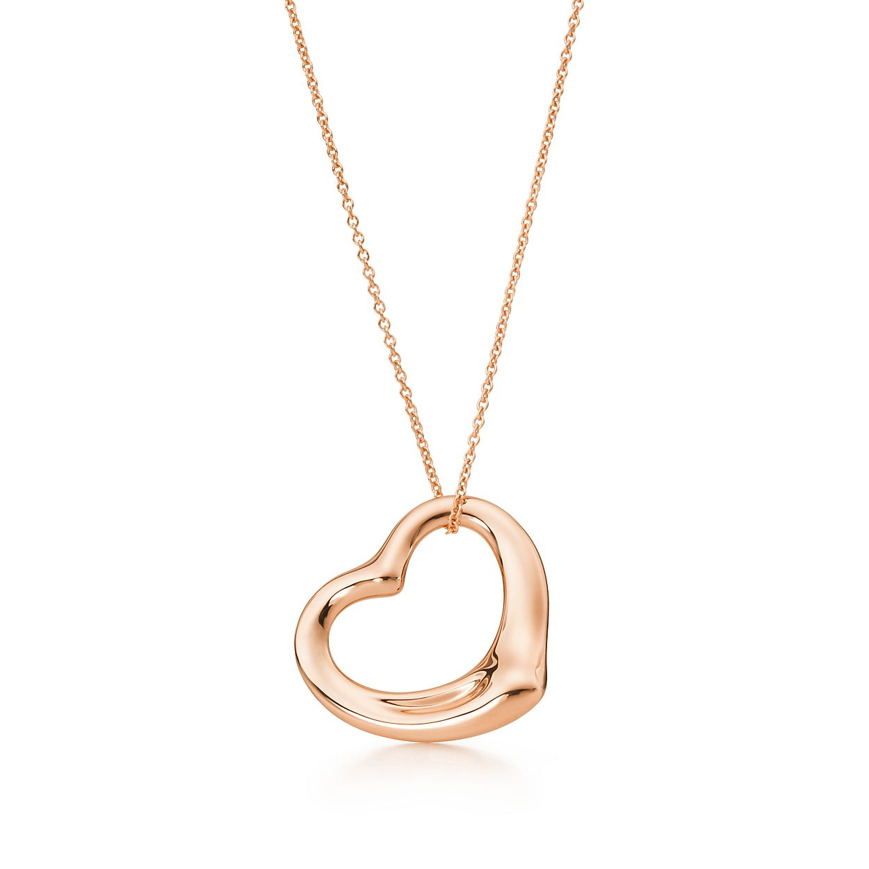 Elsa peretti open heart pendant in 18k rose gold 22 mm tiffany elsa perettiopen heart pendant aloadofball Choice Image