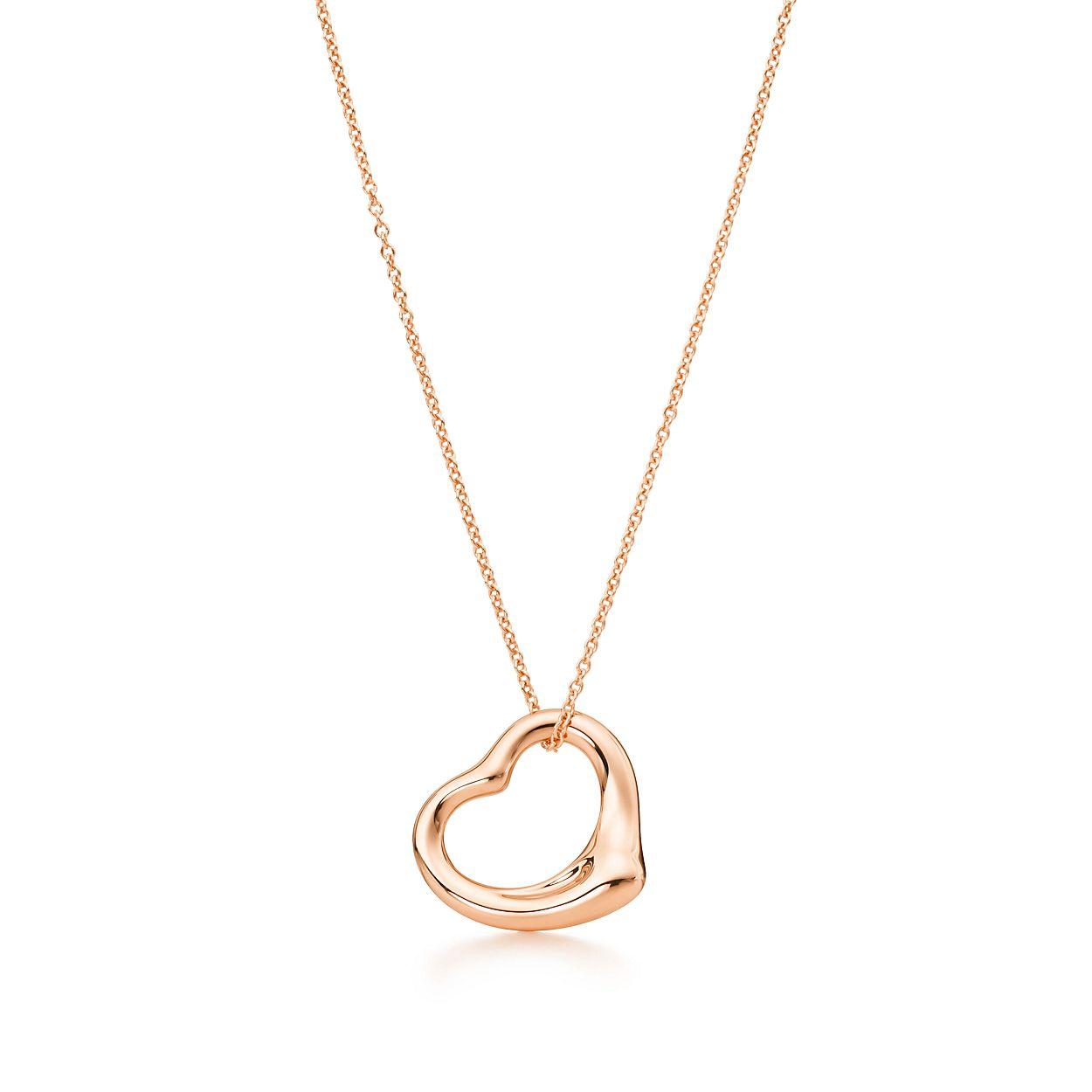 Elsa peretti open heart pendant in 18k rose gold tiffany co elsa perettiopen heart pendant aloadofball Gallery