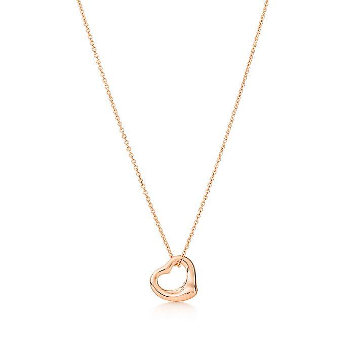 72a0fbeff Elsa Peretti® open heart pendant in 18k rose gold, 11 mm. | Tiffany ...