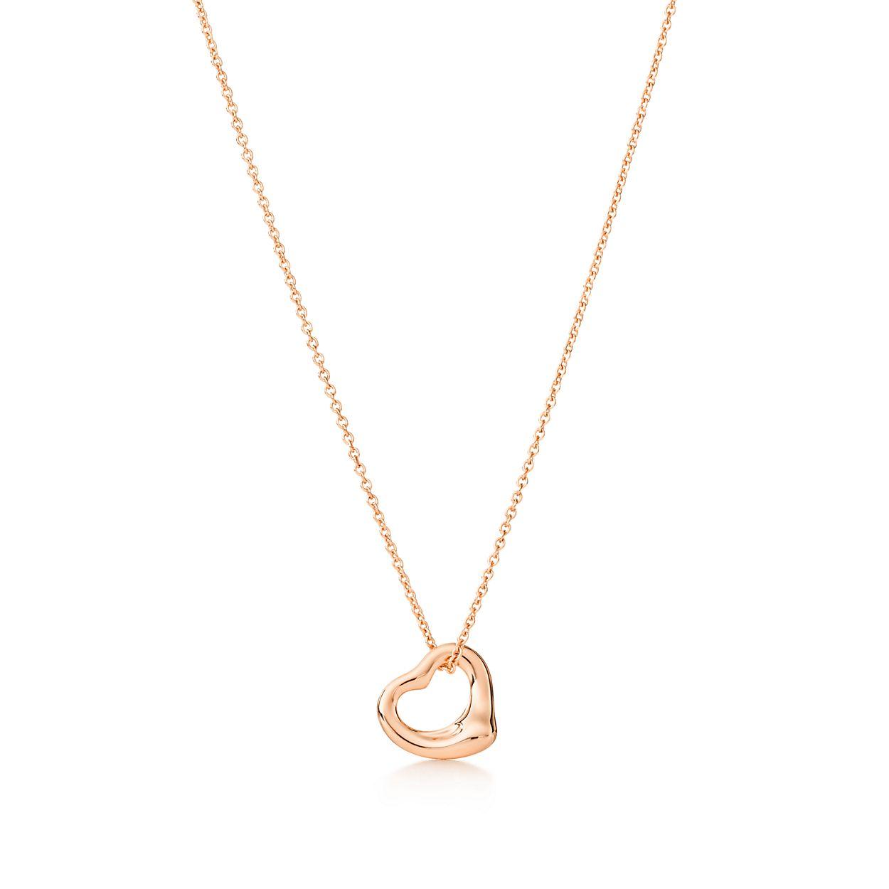 Elsa peretti open heart pendant in 18k rose gold 11 mm tiffany elsa perettiopen heart pendant aloadofball Gallery