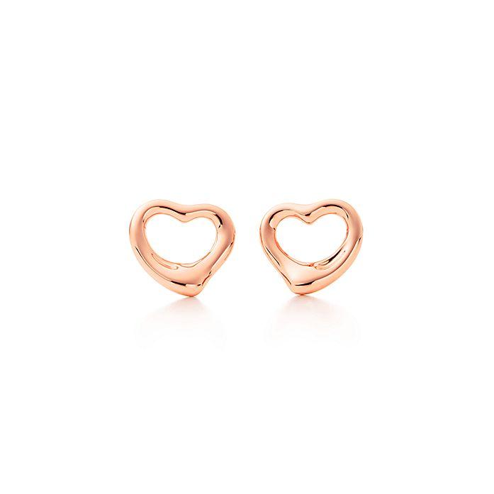 b436a587398a Aretes Elsa Peretti® Open Heart en oro rosa de 18 quilates ...
