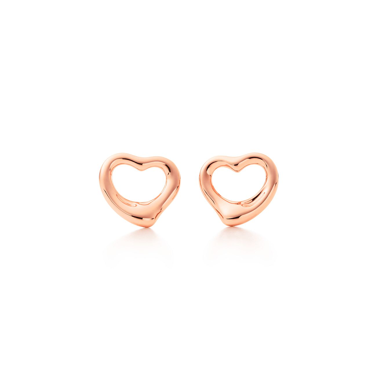 yellow borsheims gold open heart earrings