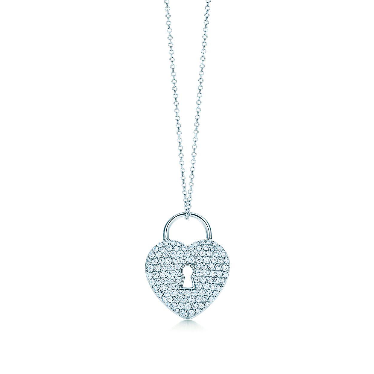 Tiffany locks heart lock pendant in platinum with diamonds on an 18 tiffany locksheart lock pendant tiffany locksheart lock pendant aloadofball Gallery