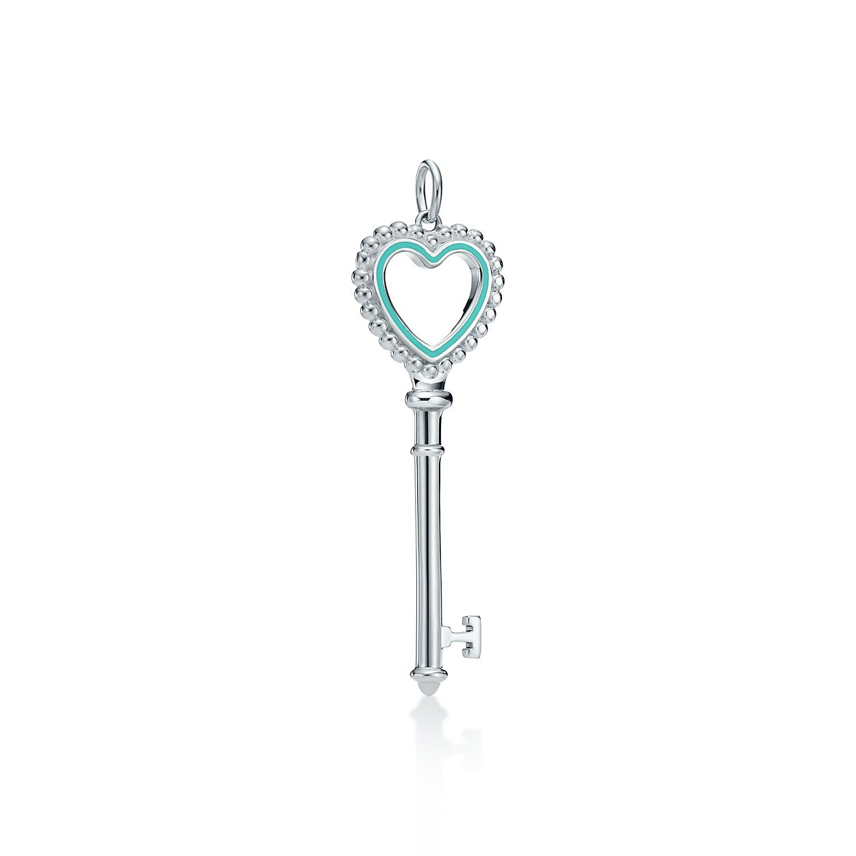 Tiffany Keys beaded heart key pendant in sterling silver with enamel finish Tiffany & Co. 2FdHbO