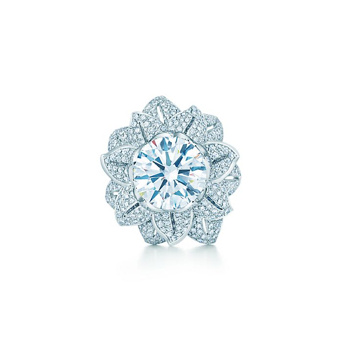 762b1d6eb The Gatsby Collection flower ring in platinum with a 5.25-carat ...