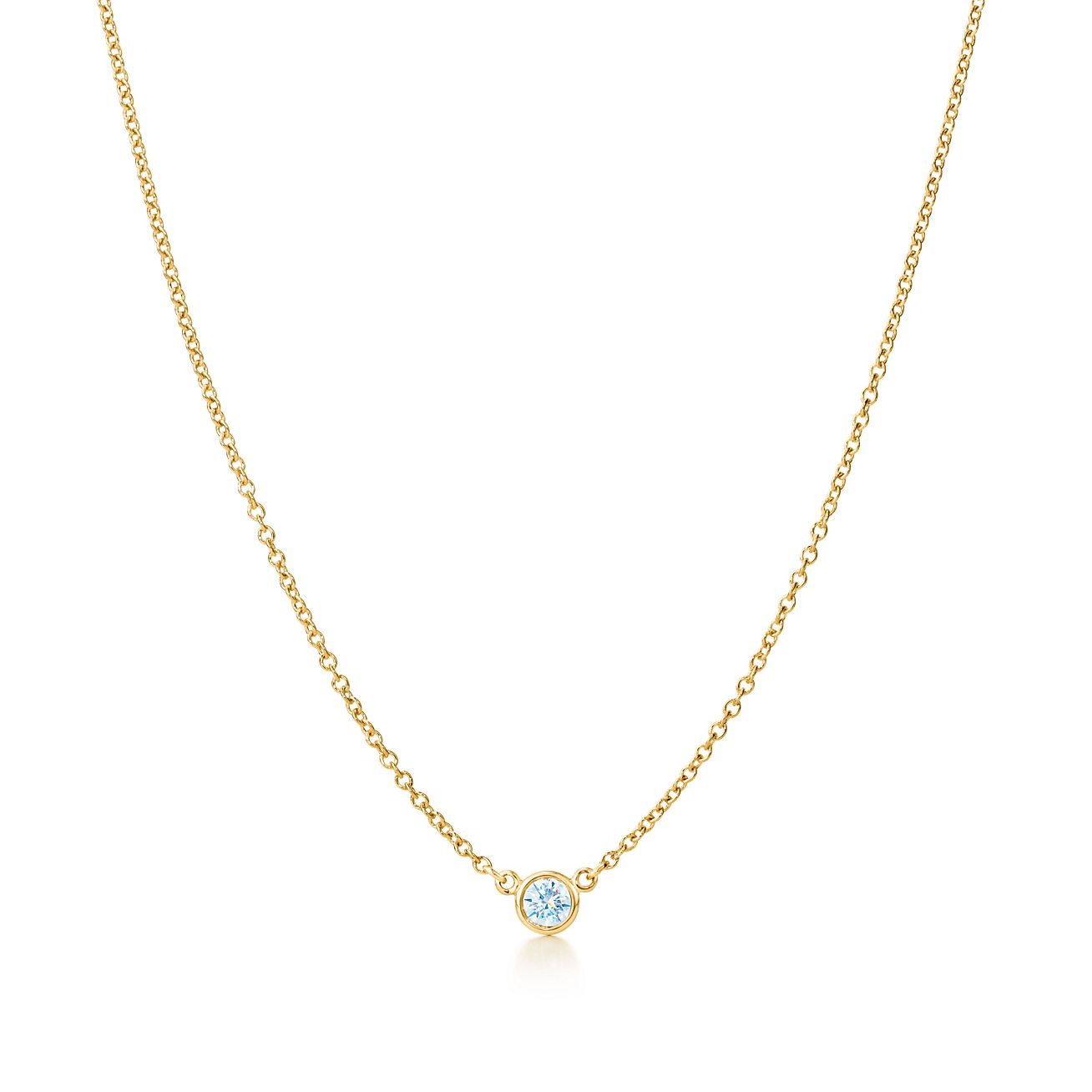 Elsa peretti diamonds by the yard pendant in 18k gold with carat elsa perettidiamonds by the yard pendant mozeypictures Images