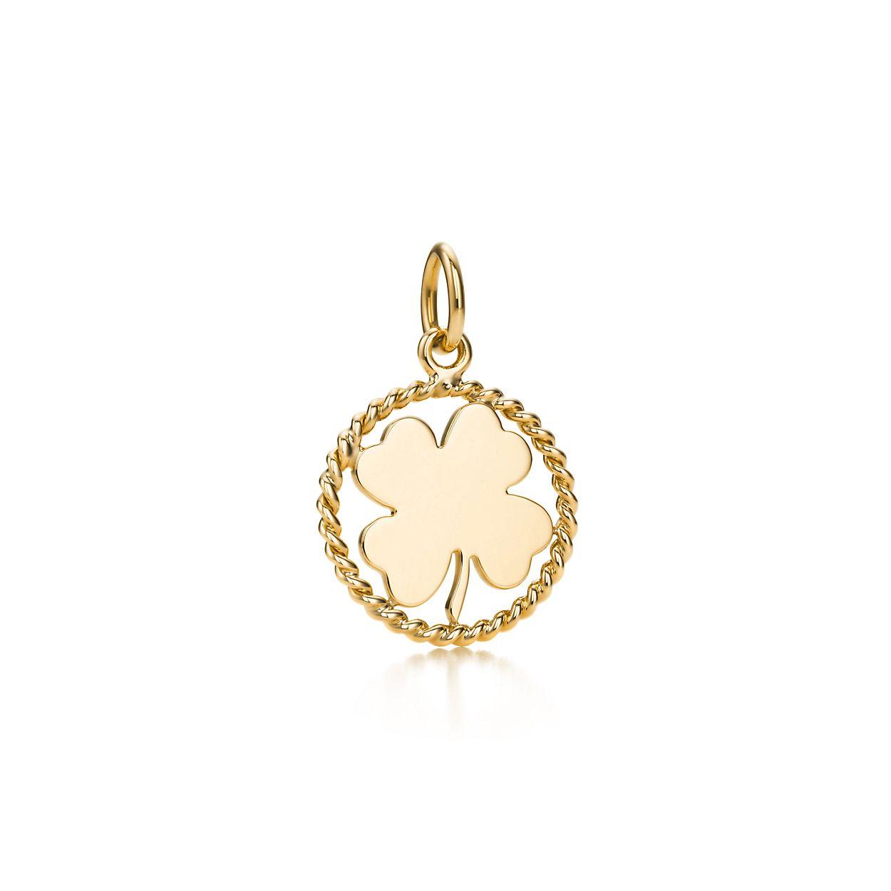 Tiffany Twist clover charm in 18k gold, small Tiffany & Co.