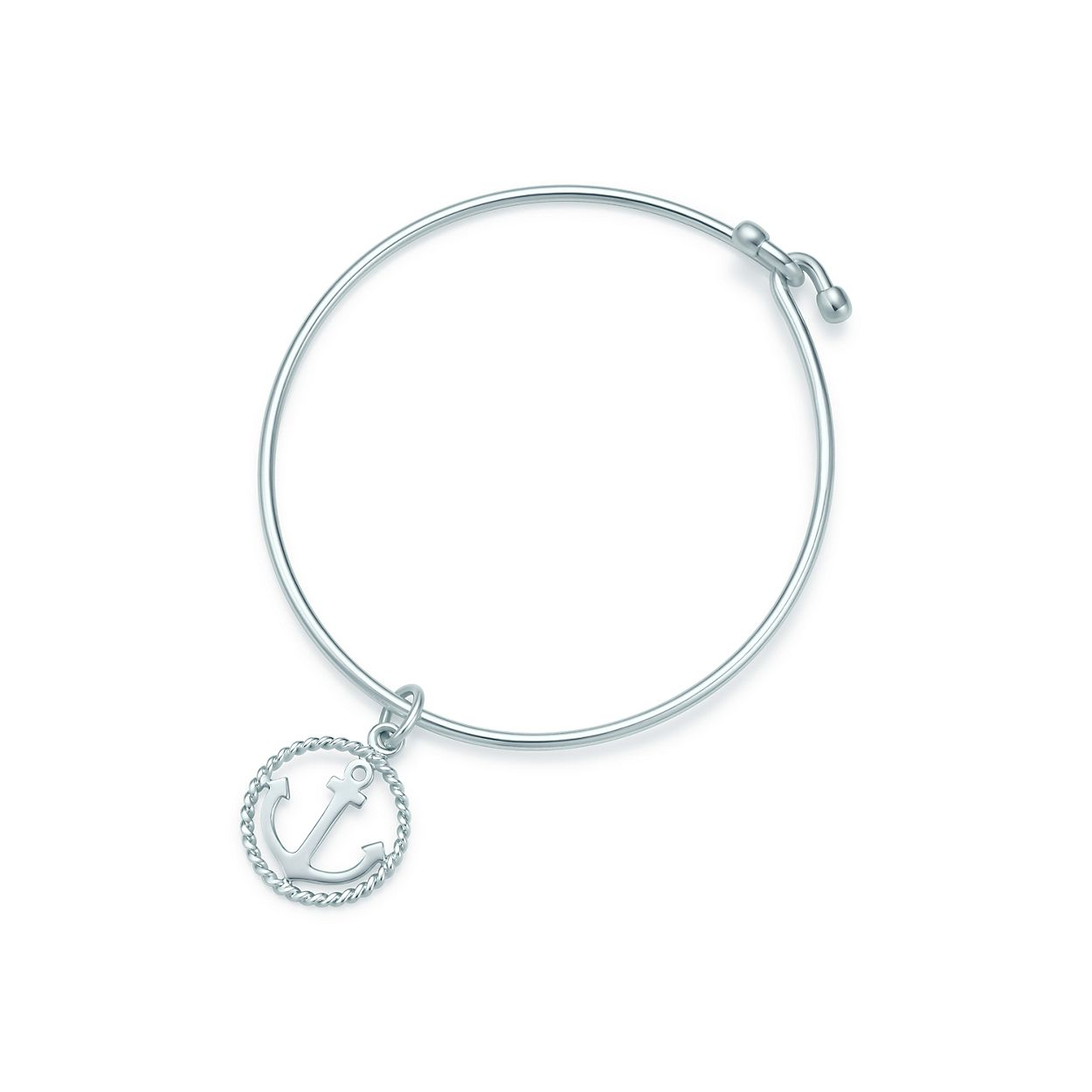 Tiffany Twist anchor charm in sterling silver on a bracelet ...