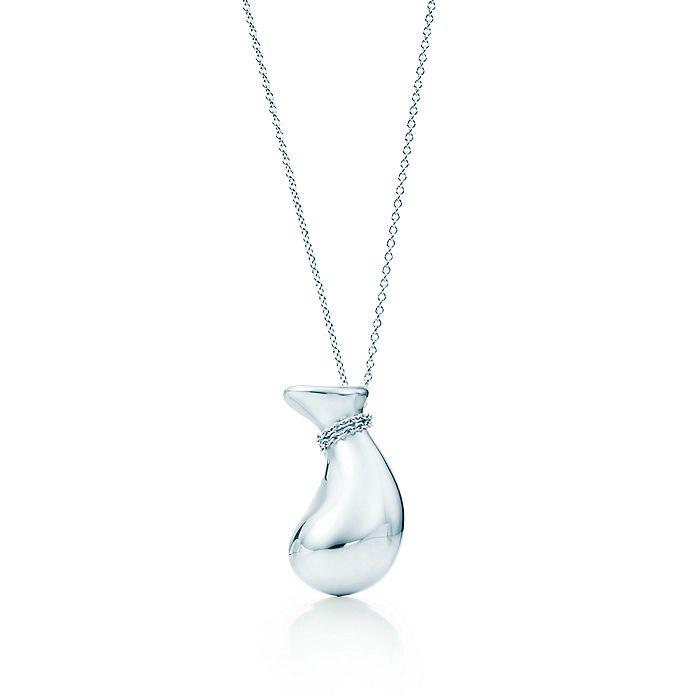 c487d5931 Elsa Peretti® Bottle jug pendant in sterling silver, small ...