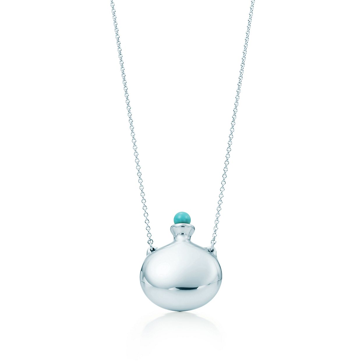 silver pendant products giftboxblue turquoise gift in necklace box