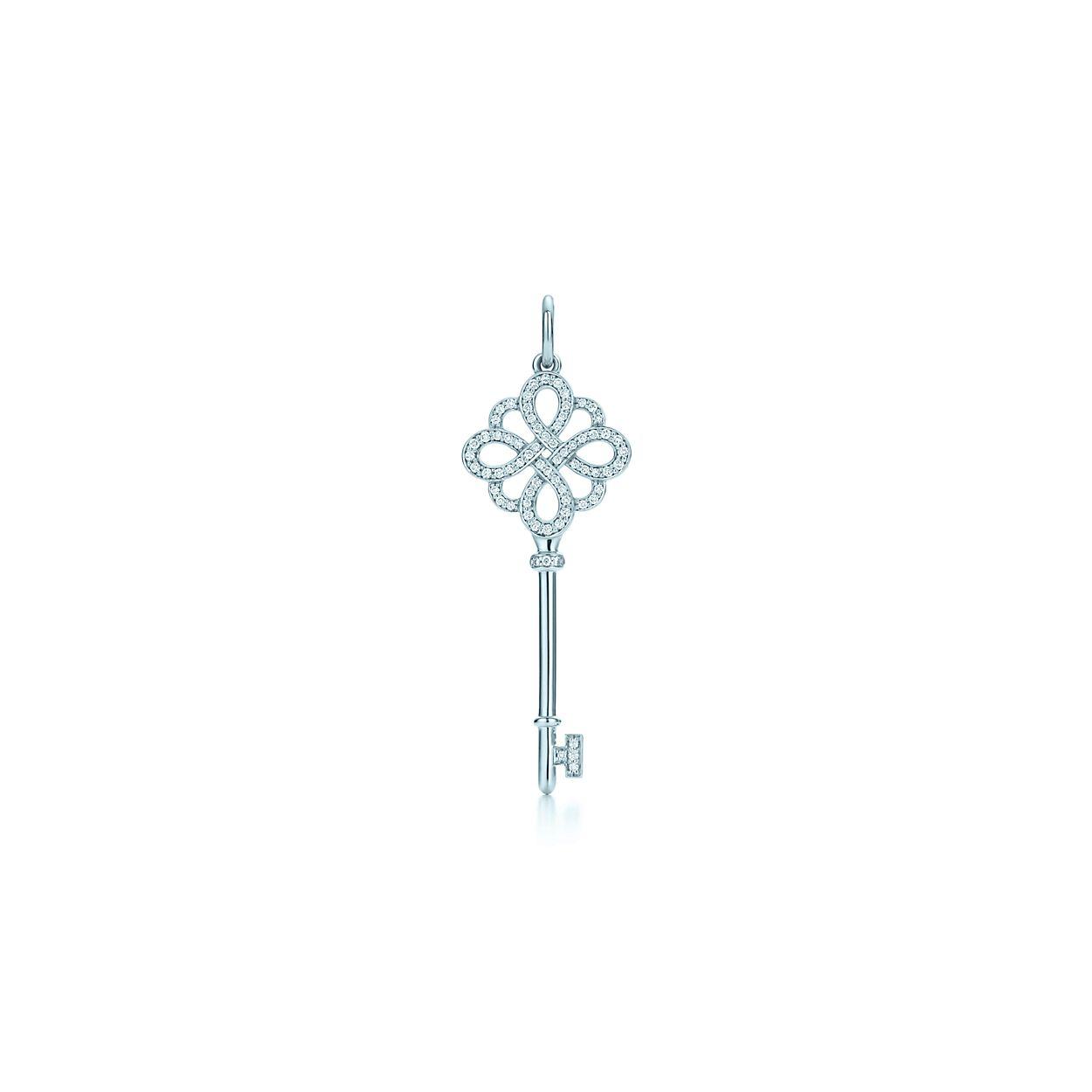 66ac183db4c2c Pendente chave Knot Tiffany Keys em ouro branco 18k com diamantes ...