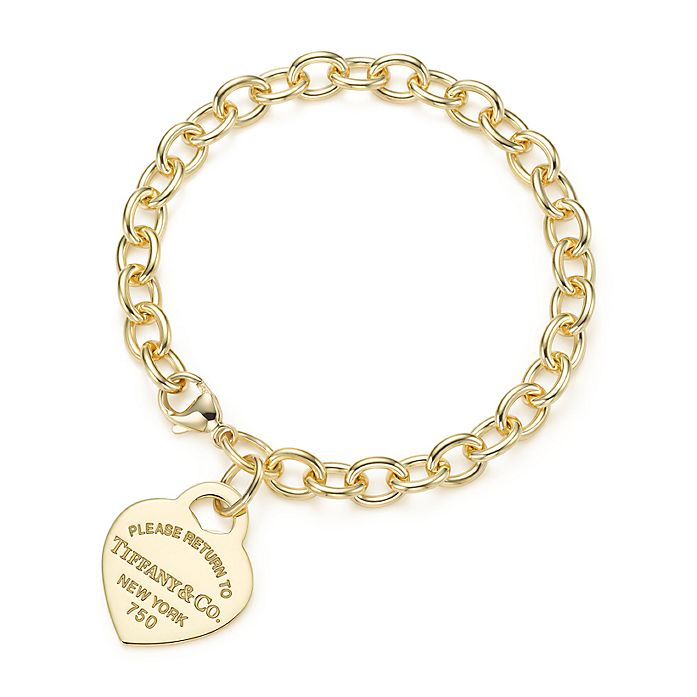 7017a7bba Return to Tiffany® medium heart tag in 18k gold on a bracelet ...