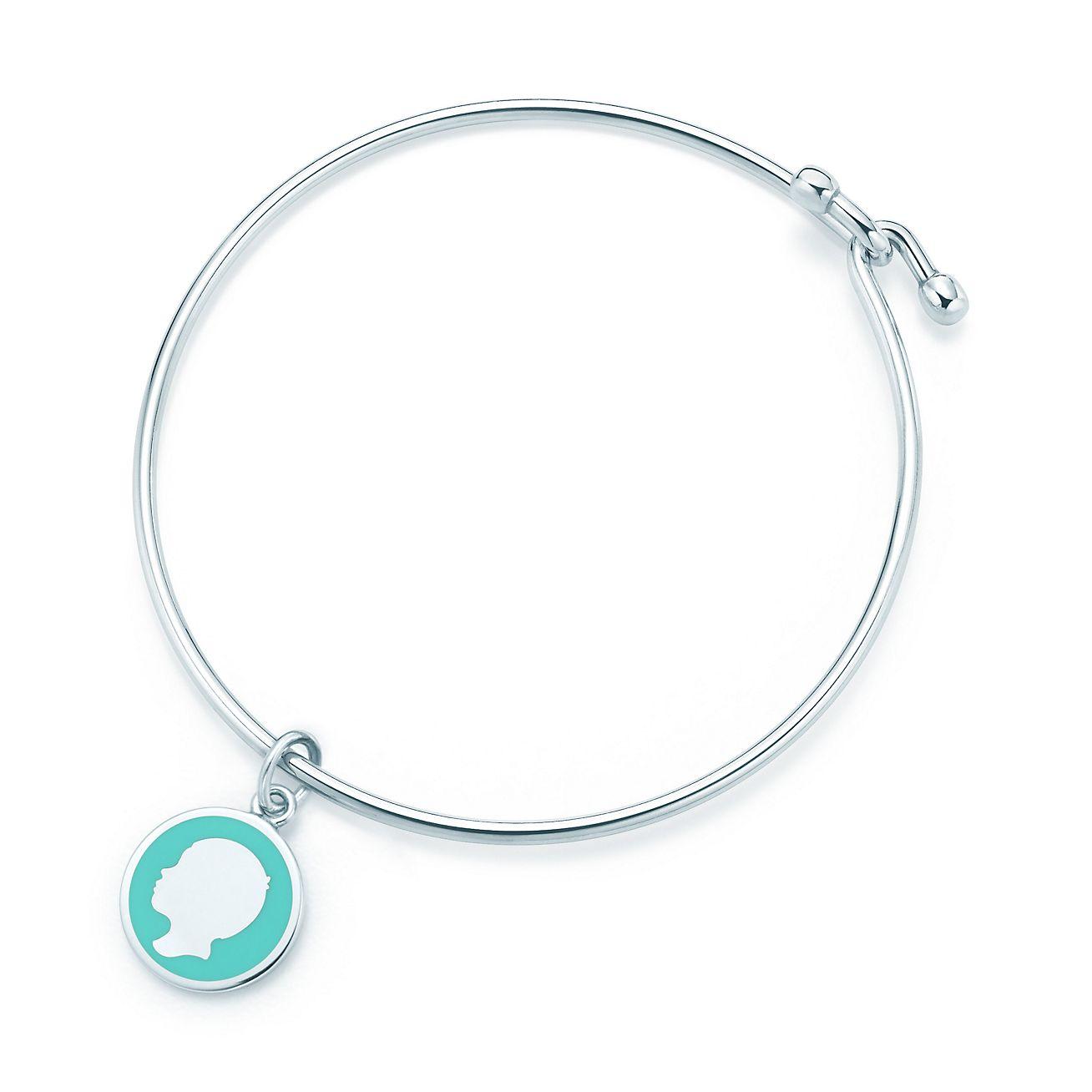 Boy tag charm in sterling silver with Tiffany Blue enamel finish Tiffany & Co.