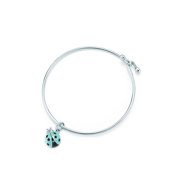 d576974c6 Ladybug charm in sterling silver with enamel finish on a wire bracelet,  small. | Tiffany & Co.