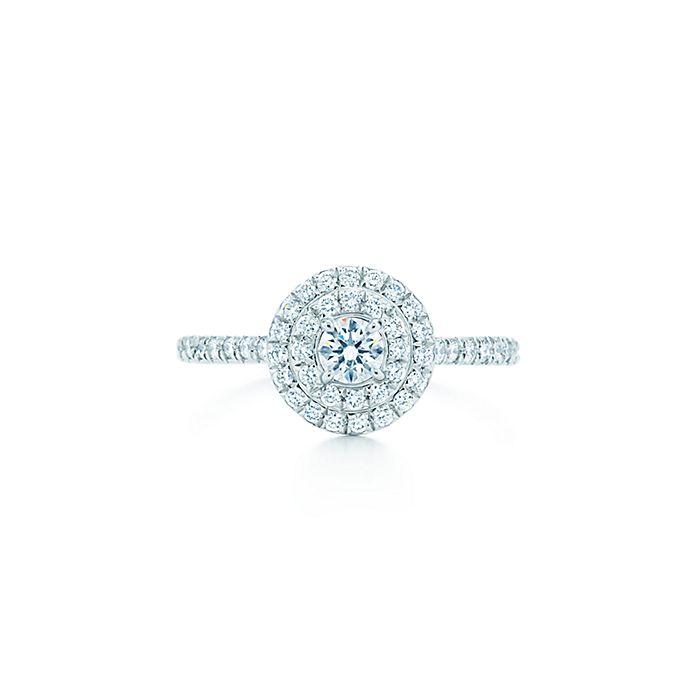 95ed48c79 Tiffany Soleste ring of diamonds in platinum. | Tiffany & Co.