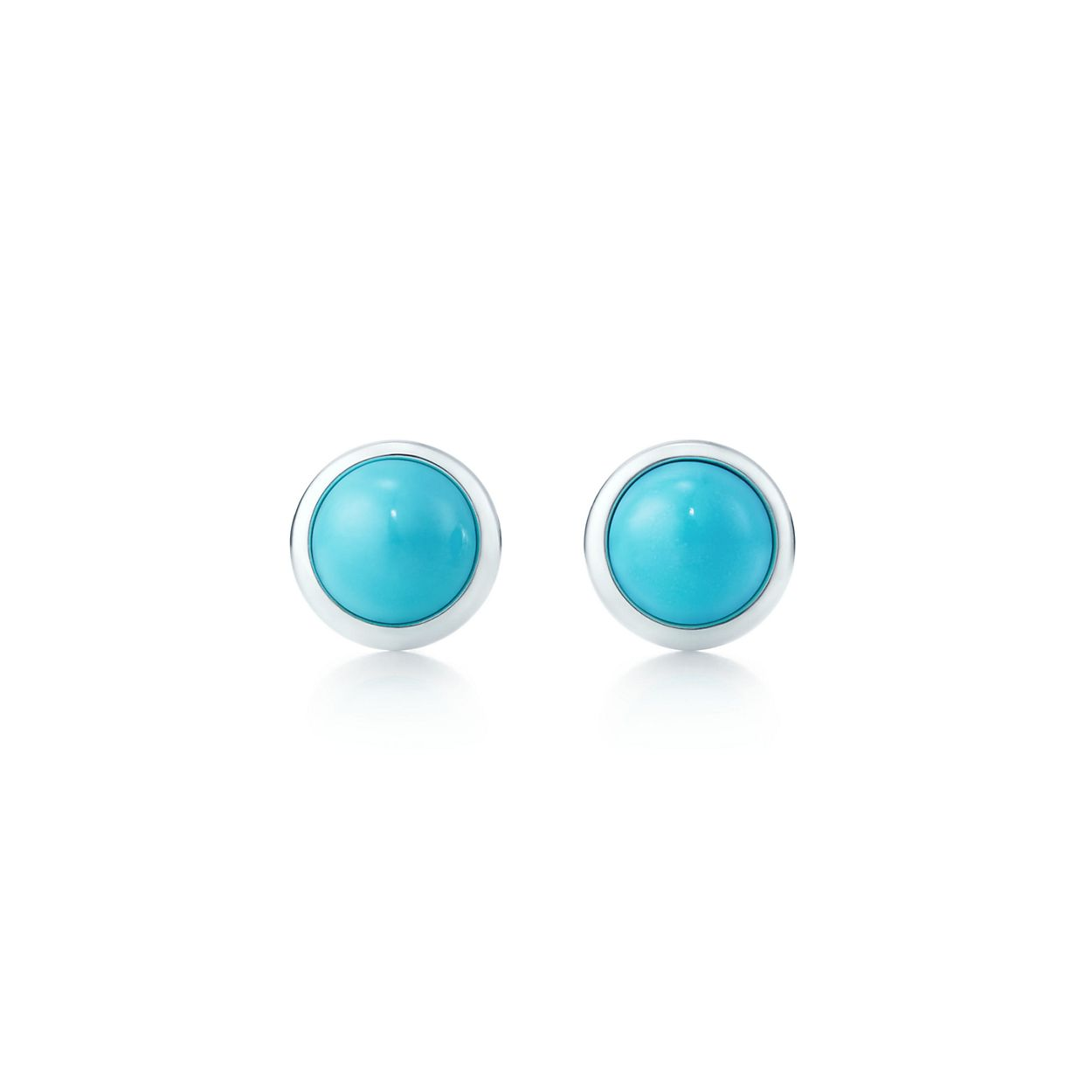 jewelry bling yp sterling turq silver simulated az stud turquoise ball earrings