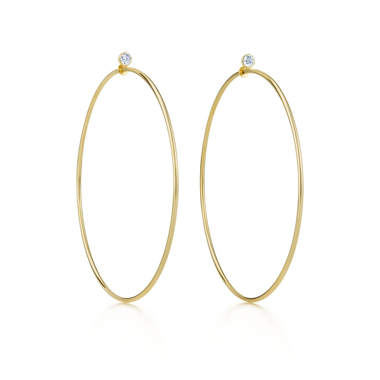 Elsa Peretti Diamond Hoop Earrings