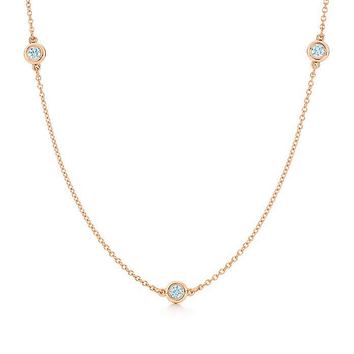 5d286ffea Elsa Peretti® Diamonds by the Yard® necklace in 18k rose gold ...