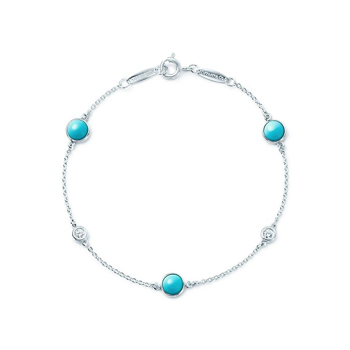 c8e4b6240a65 Elsa Peretti® Color by the Yard bracelet in silver with diamonds and ...
