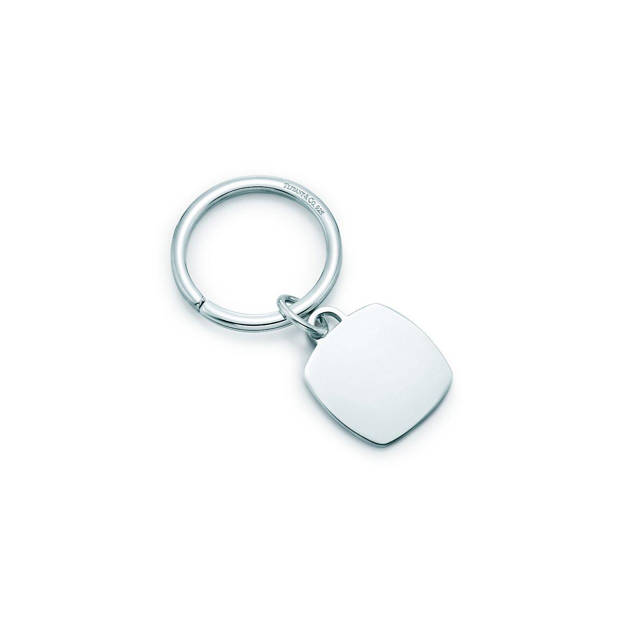 Cushion Tag Key Ring In Sterling Silver Tiffany Co
