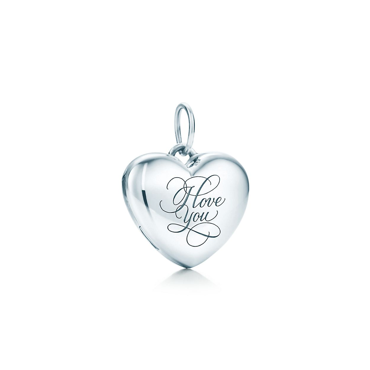 I love you heart locket in sterling silver small tiffany co love you heart locket aloadofball Images