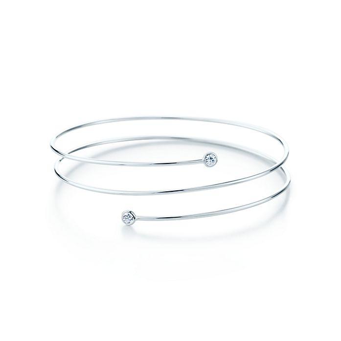 2f5d59418 Elsa Peretti® Diamond Hoop three-row bracelet in sterling silver ...