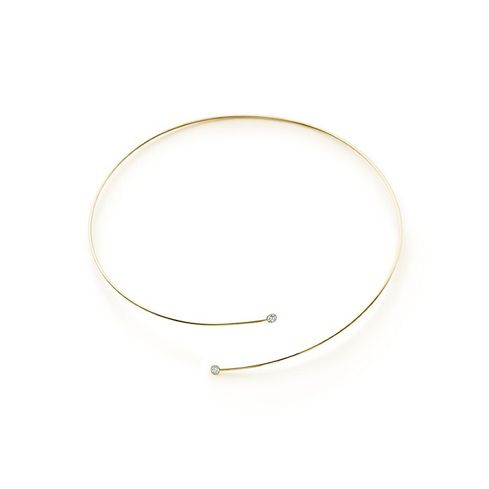 b5f289cf4b8 Elsa Peretti® Diamond Hoop necklace in 18k gold with diamonds ...