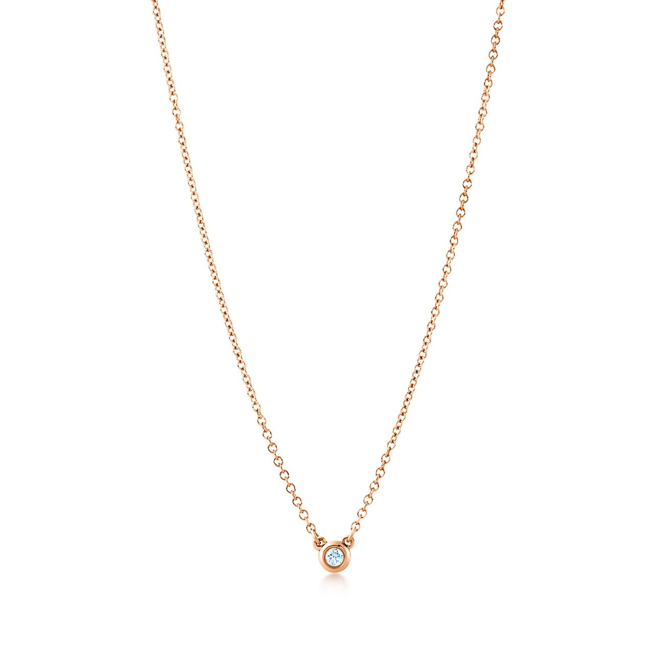 Elsa peretti diamonds by the yard pendant in 18k rose gold with a elsa perettidiamonds by the yard pendant mozeypictures Image collections