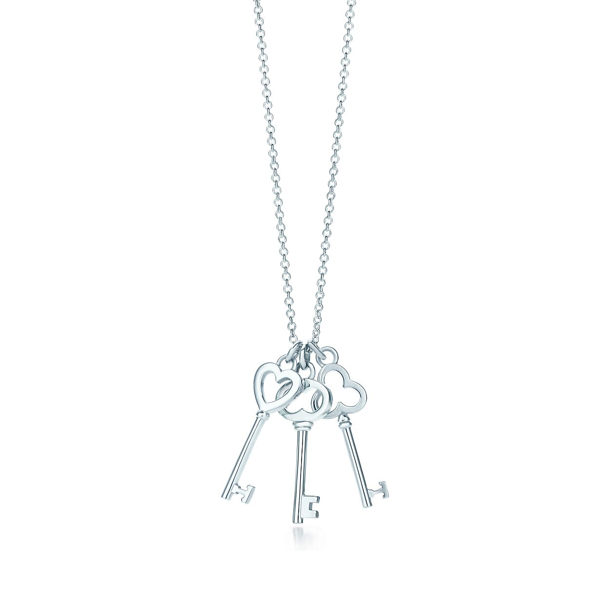 Tiffany keys mini three key pendant in sterling silver tiffany co tiffany keysthree key pendant mozeypictures Image collections