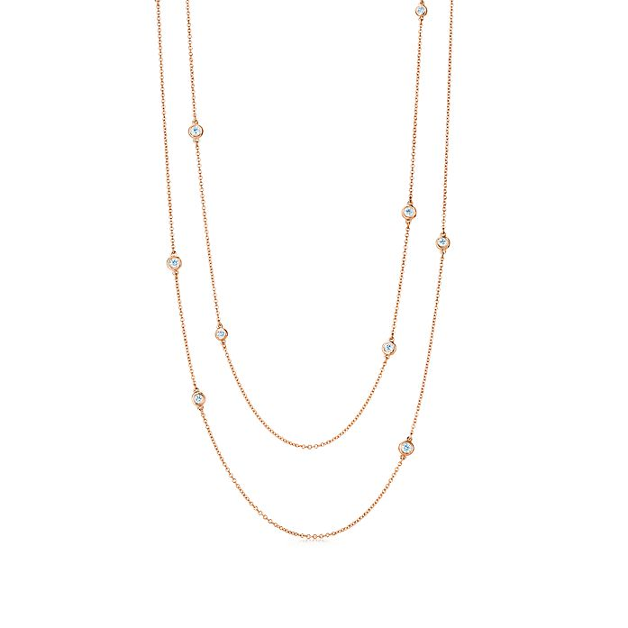 d46a94238 Elsa Peretti® Diamonds by the Yard® sprinkle necklace in 18k rose ...