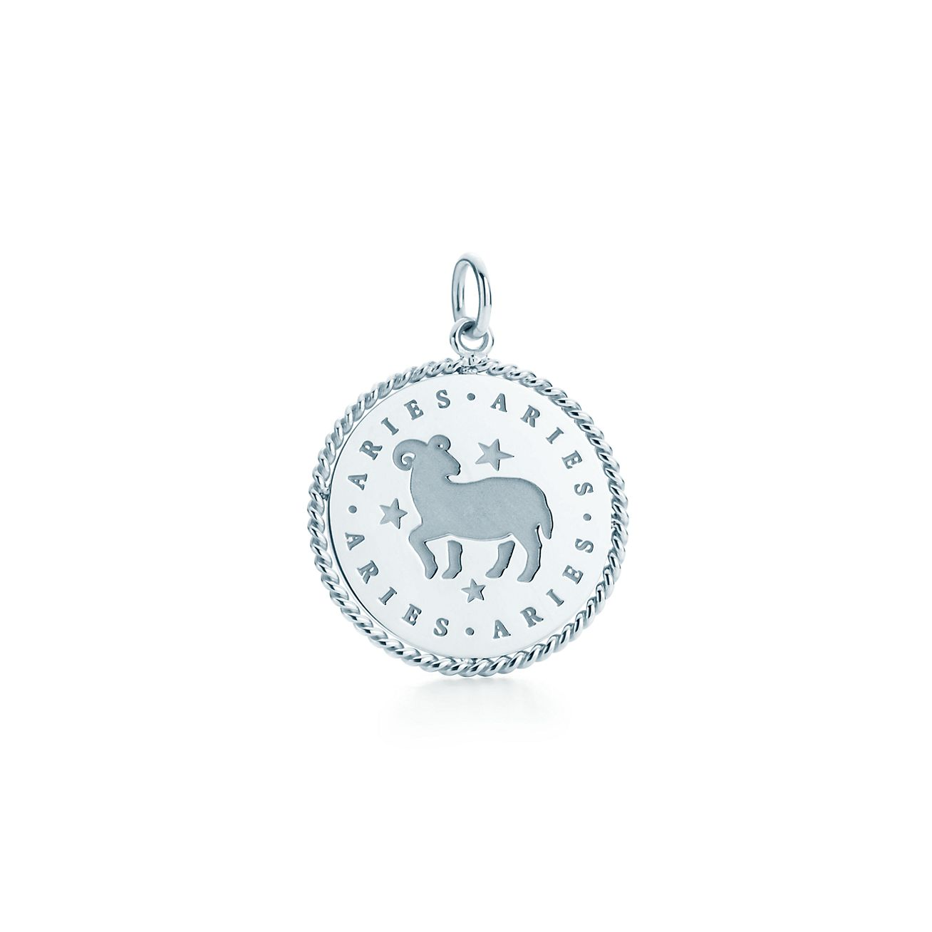 Capricorn zodiac charm in sterling silver - Size Capricorn Tiffany & Co.
