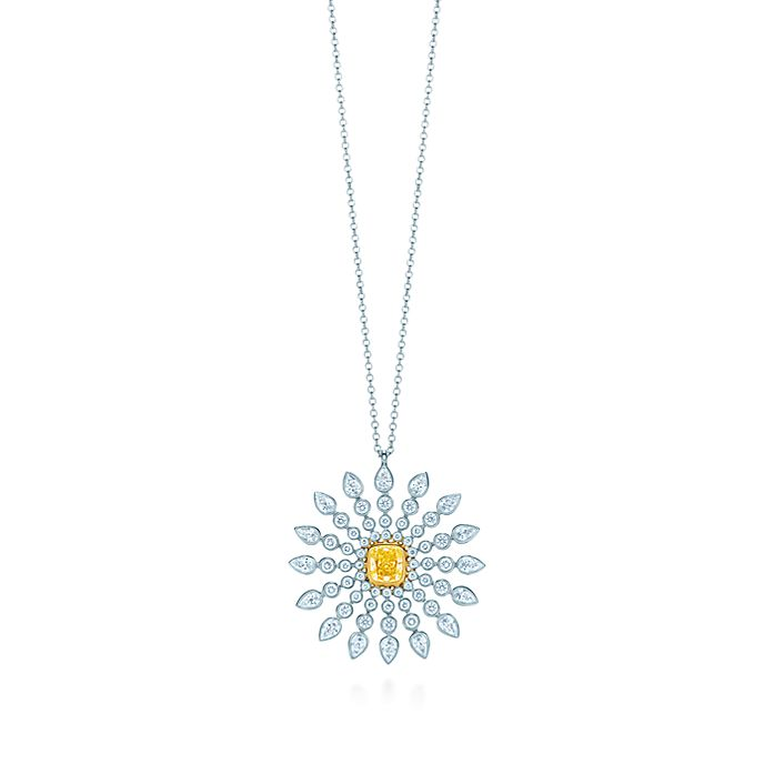 03bc23364 Sunburst pendant in platinum and 18k gold with a Tiffany Yellow ...