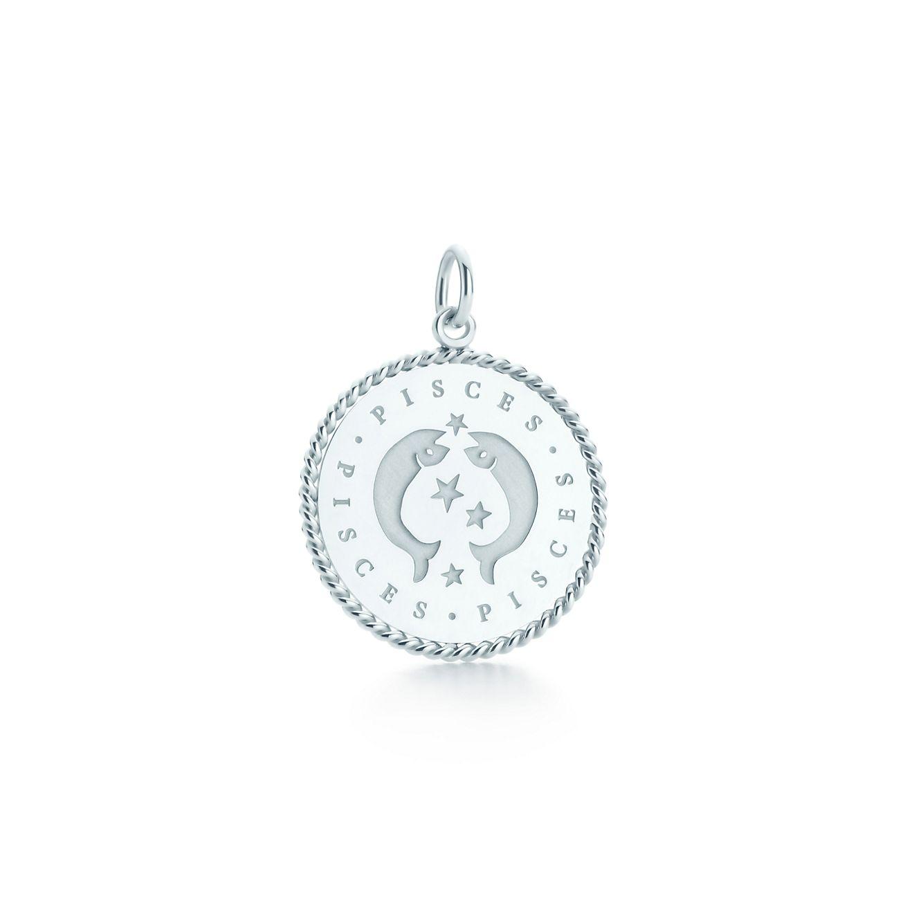 Pisces zodiac charm in sterling silver tiffany co pisces zodiac charm mozeypictures Choice Image