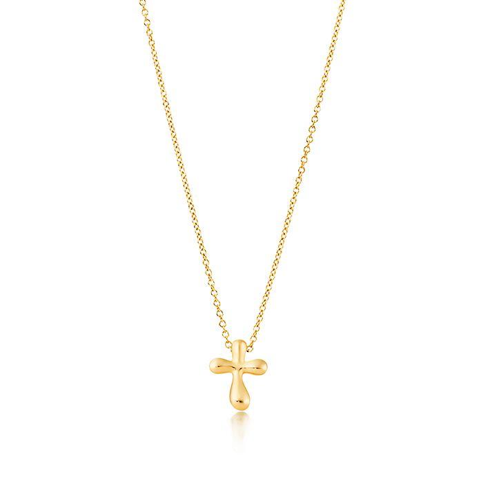 1371671a7 Elsa Peretti® cross pendant in 18k gold, 12 mm wide. | Tiffany & Co.
