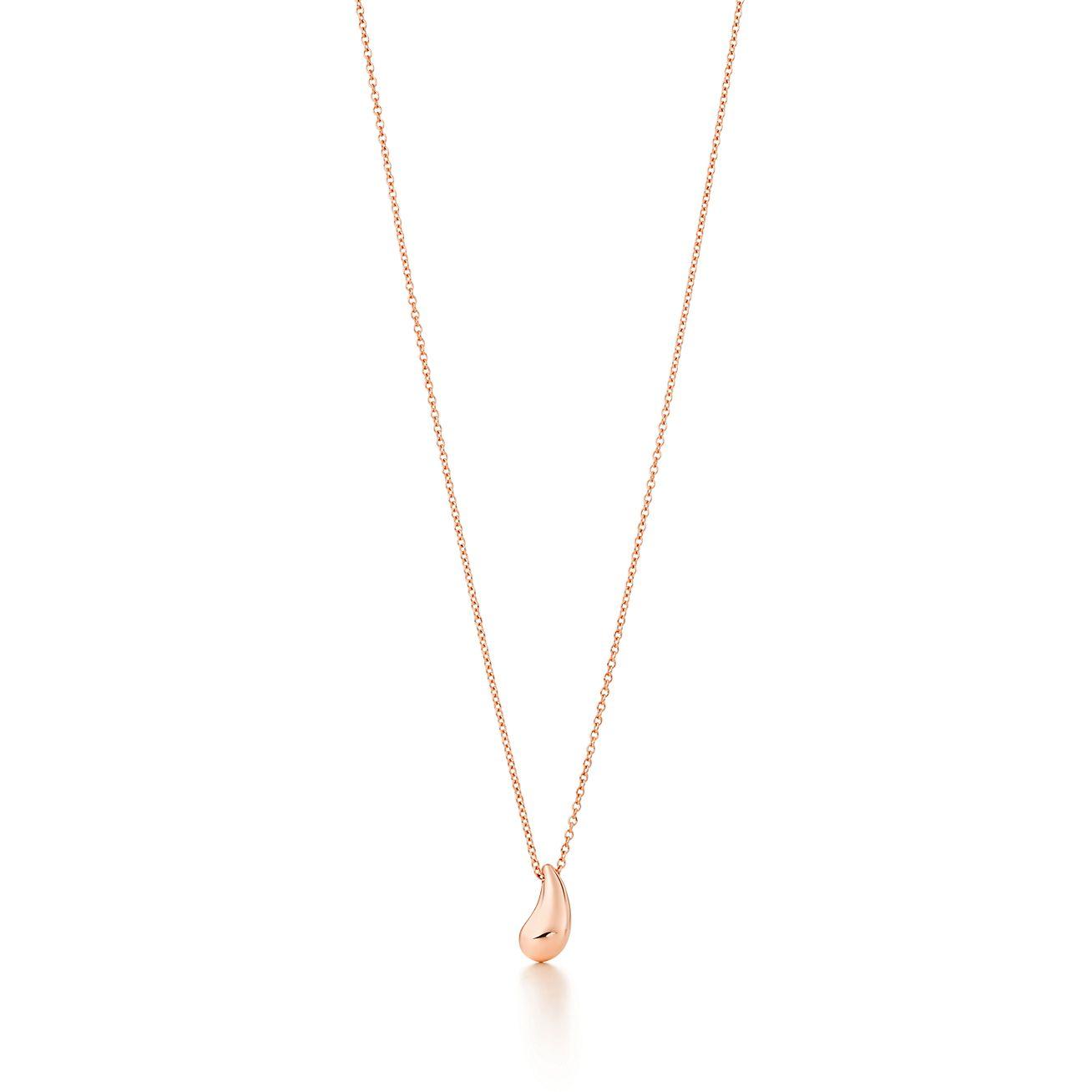 Elsa Peretti® Teardrop pendant in 18k rose gold.  f870ce869
