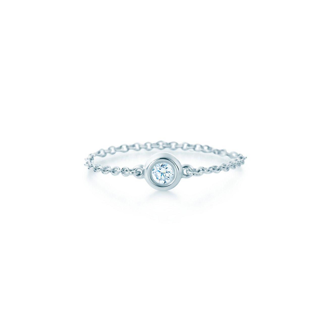 Elsa Peretti Diamonds by the Yard earrings in sterling silver - Size.10 Tiffany & Co.