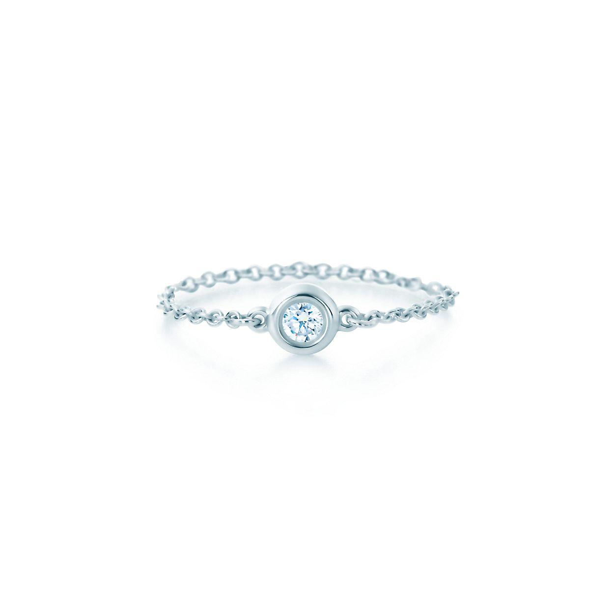 Elsa Peretti Diamonds by the Yard earrings in sterling silver - Size.10 Tiffany & Co. i3jyNAY
