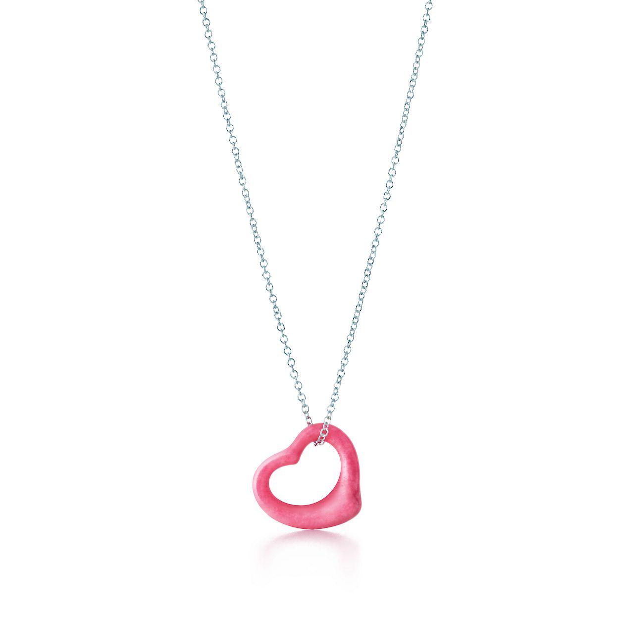 Elsa peretti open heart pendant of rhodonite and sterling silver elsa perettiopen heart pendant aloadofball Images