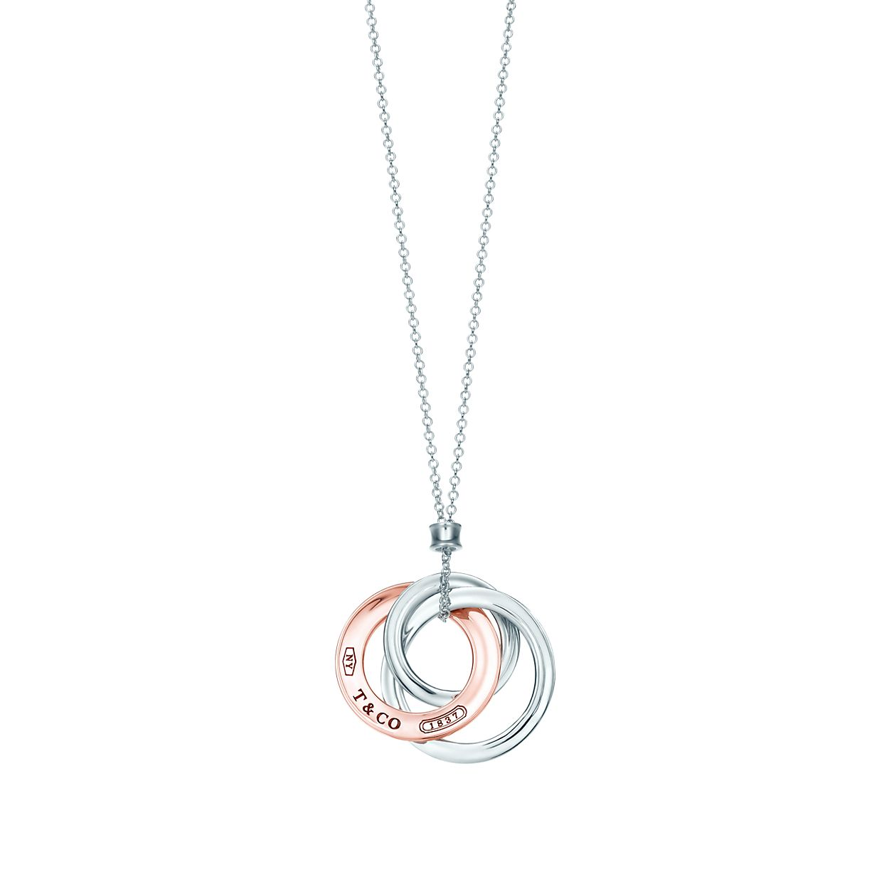 Tiffany 1837 interlocking circles pendant in sterling silver, small Tiffany & Co.