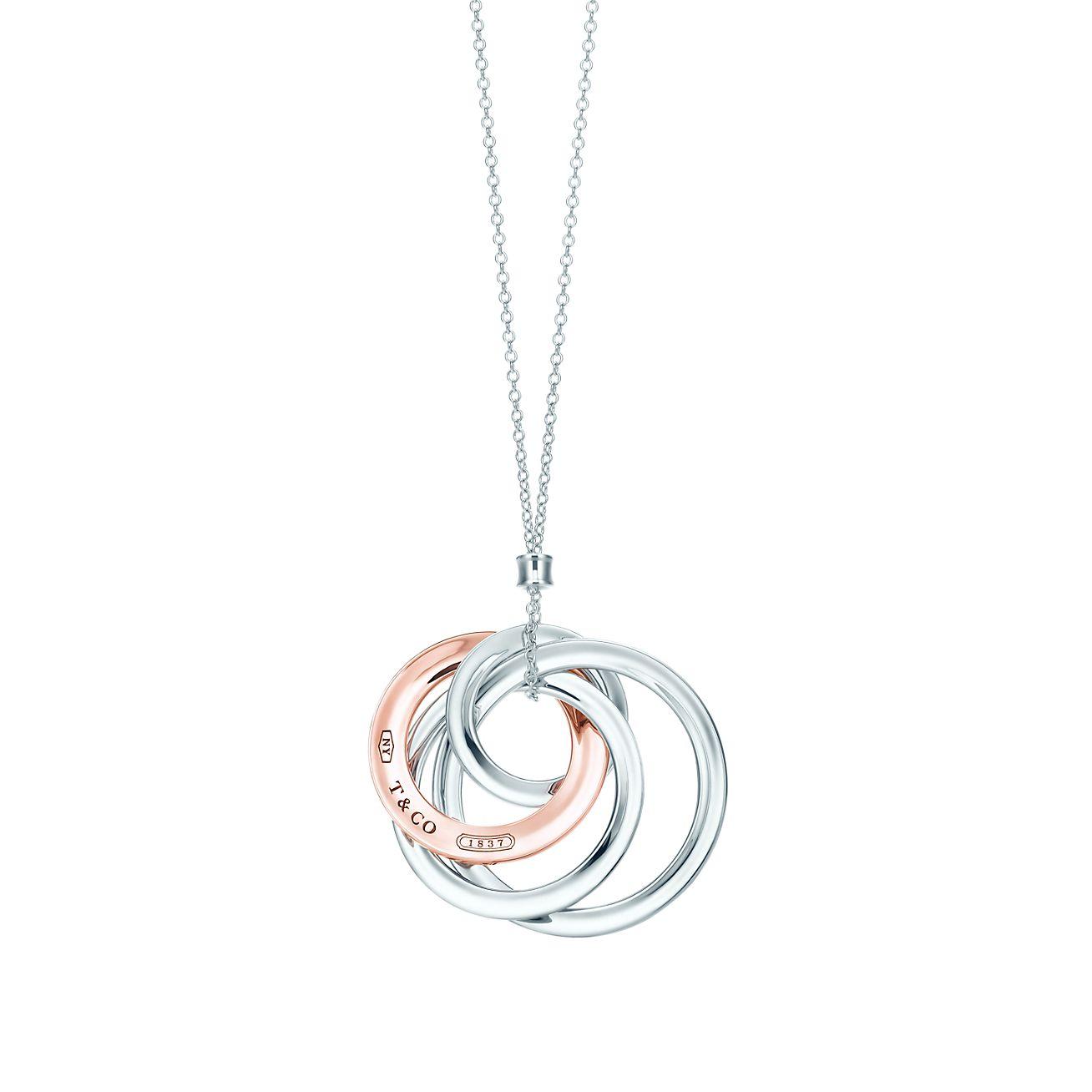 Tiffany 1837 interlocking pendant in sterling silver and Rubedo metal Tiffany & Co.