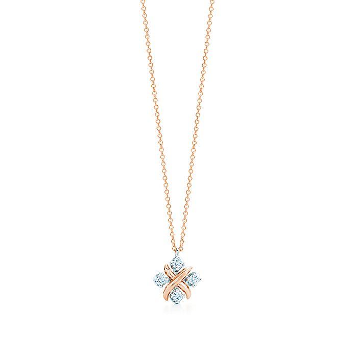 cdf12b829 Tiffany & Co. Schlumberger® Lynn pendant in rose gold with diamonds ...