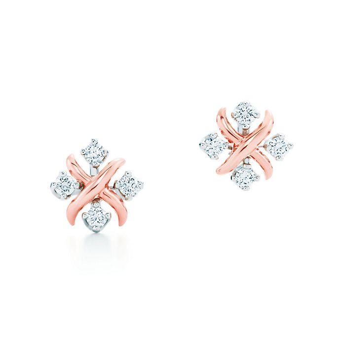 cb7f2841c Tiffany & Co. Schlumberger® Lynn earrings in 18k rose gold with ...